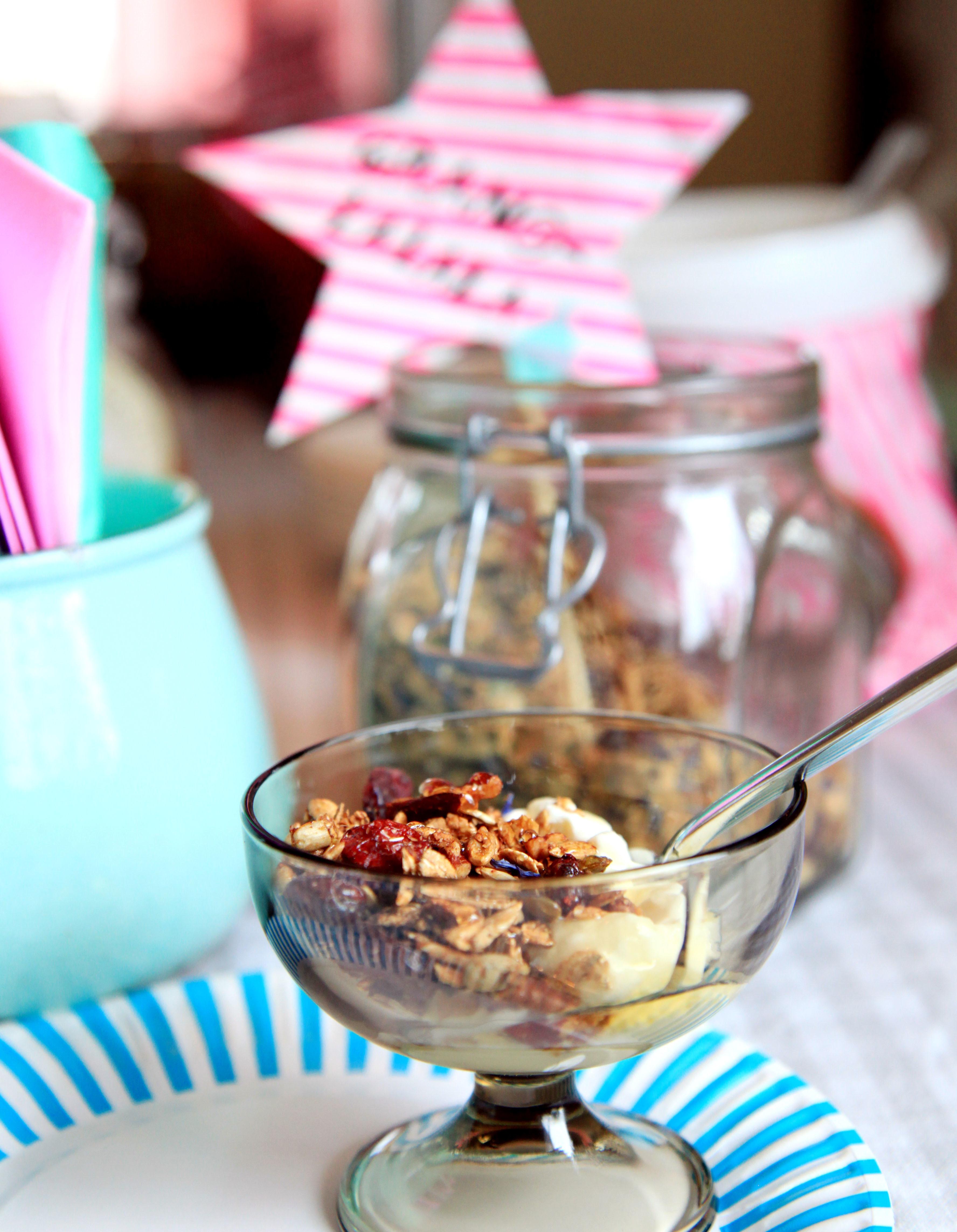 yoghurt maken met bloemetjes