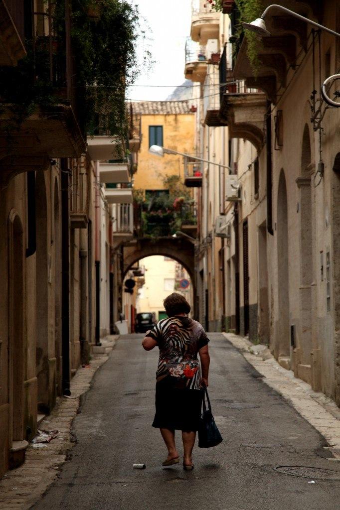 straatje in Sicilie
