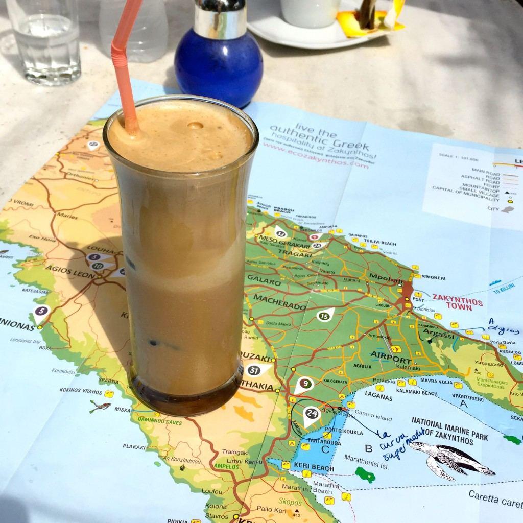 basis van het griekse drankje frappe
