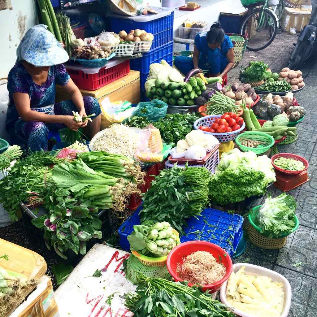 48 lokale markt Vietnam