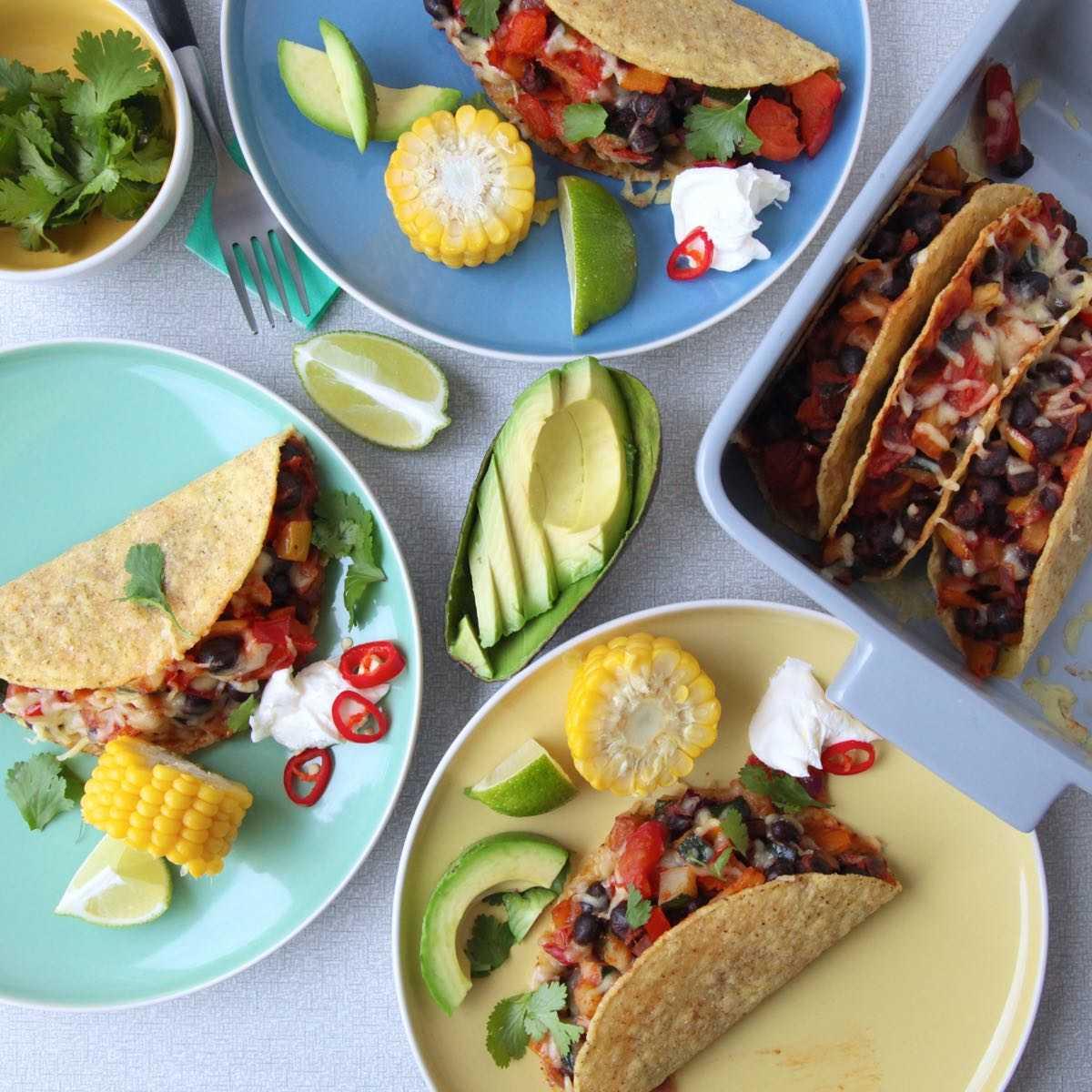 vegetarische taco's Santa Maria