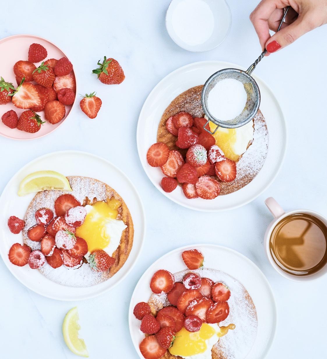 wafels van eierkoek